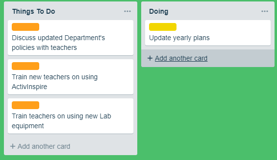 Trello, colaborative project management tool.